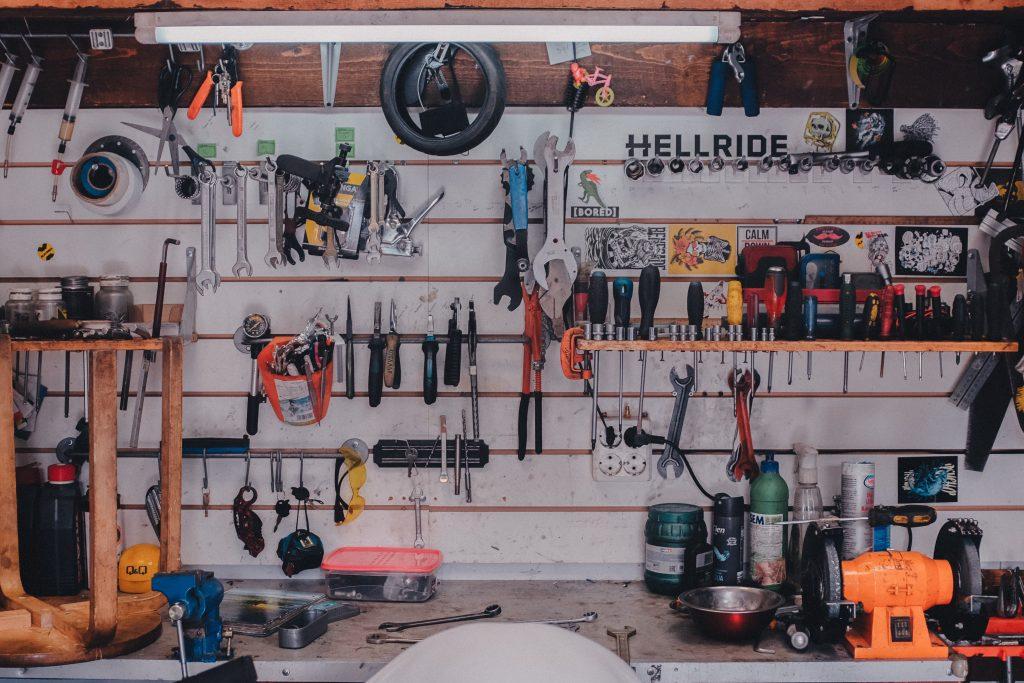 tools in mechanic shop